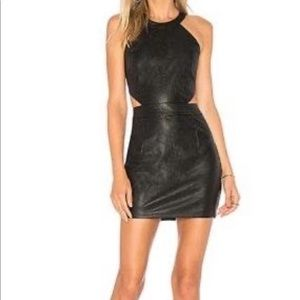 NWT Revolve black leather dress